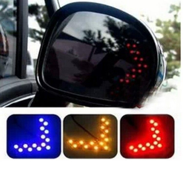 New 10pcs Amber Arrow Panel 14smd Led Car Side Mirror Turn Signal Indicator Light Ca Car Toys Store Accessories Car Camera Car Video Players Audio Car