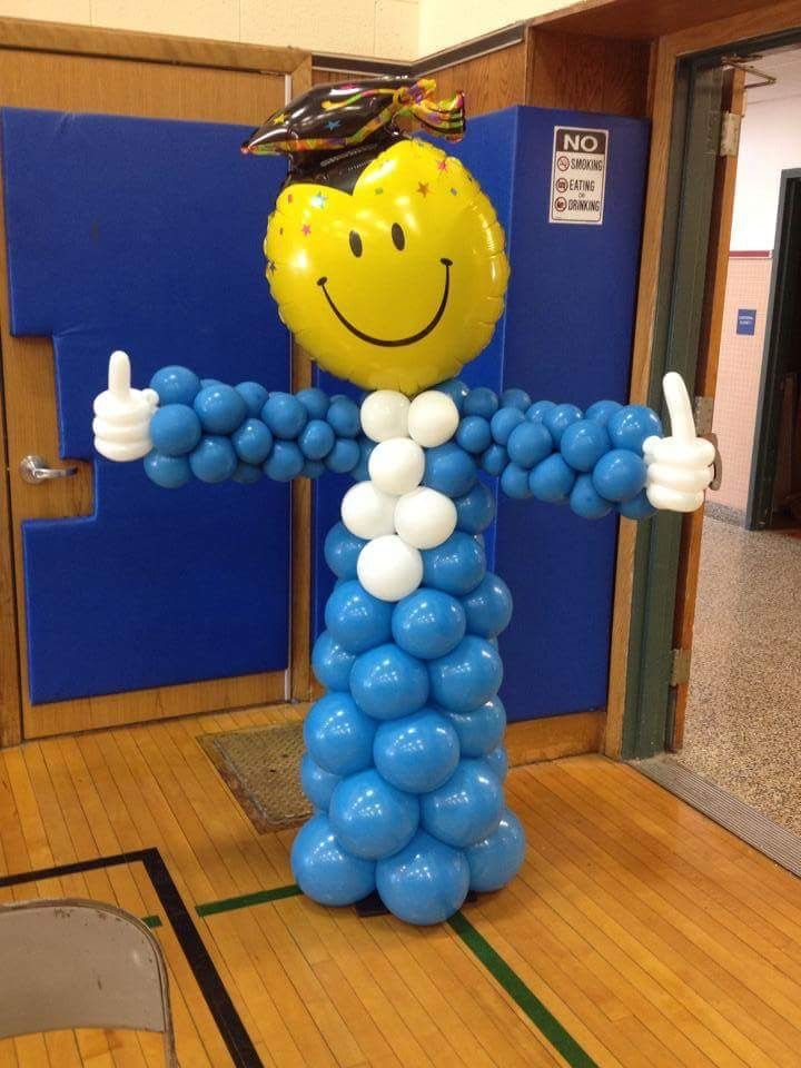 Graduaci n globos pinterest graduation ideas for Balloon decoration graduation