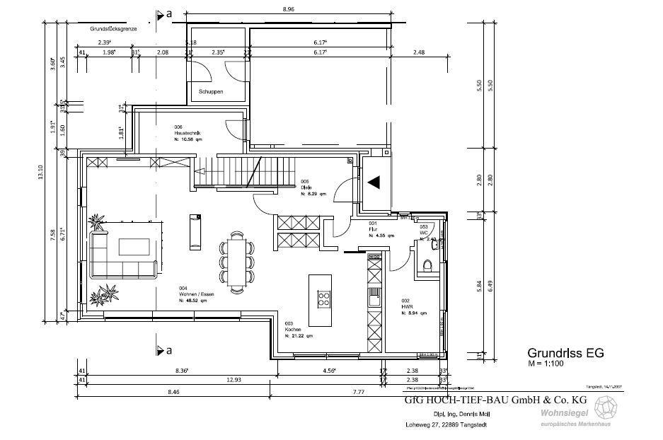 schl sselfertige architektenh user massiv gebaut gfg hoch tief bau architektenh user. Black Bedroom Furniture Sets. Home Design Ideas