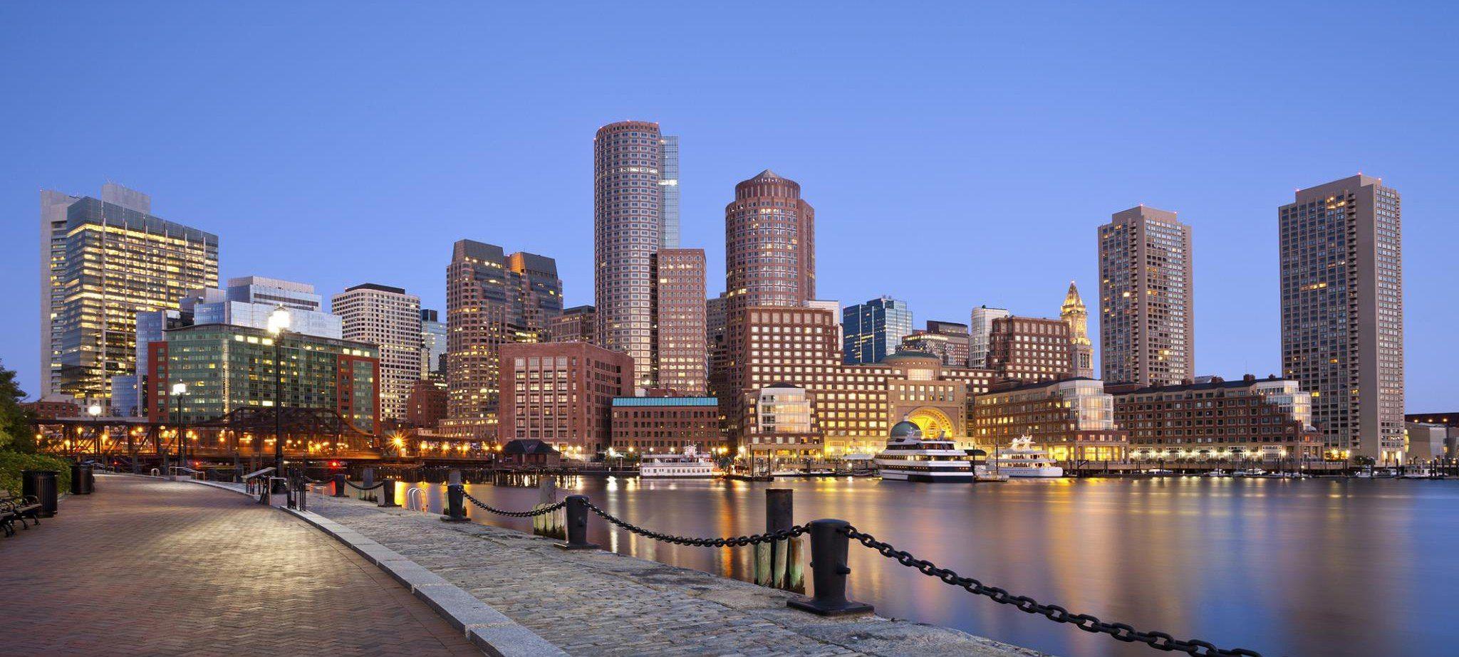 Boston skyline photo College tour, Boston university
