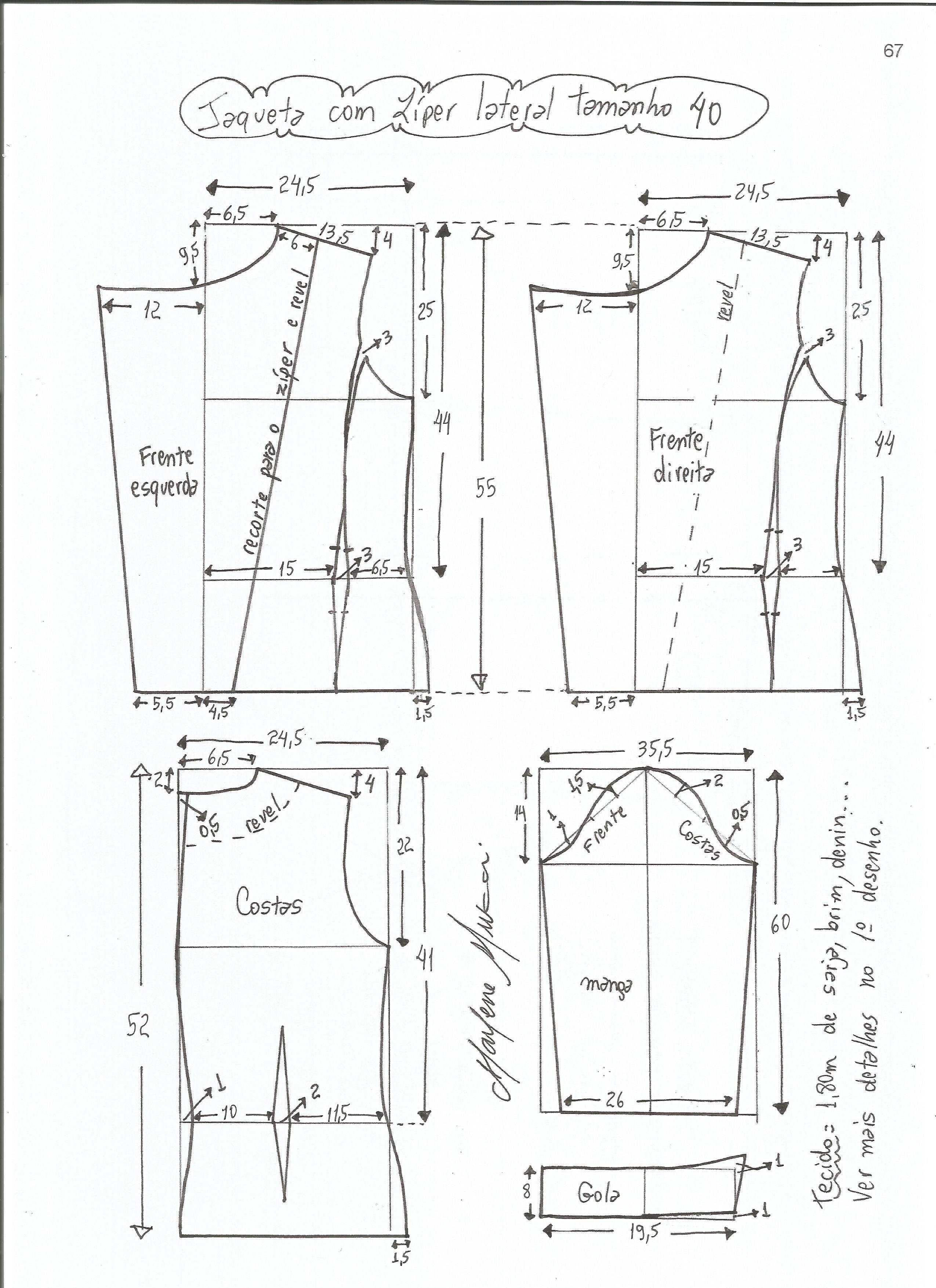 Patrón de chaqueta clásica | Patrones para confeccionar | Pinterest ...