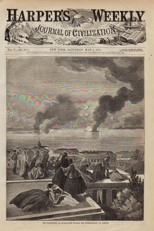 The House Tops Of Charleston During The Bombardment Of Sumter
