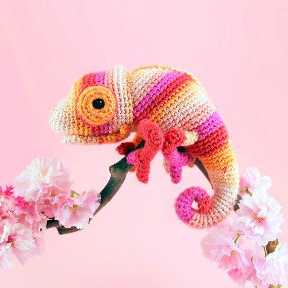 Chameleon Crochet pattern   häkeln in 2018   Pinterest   Häkeln und ...