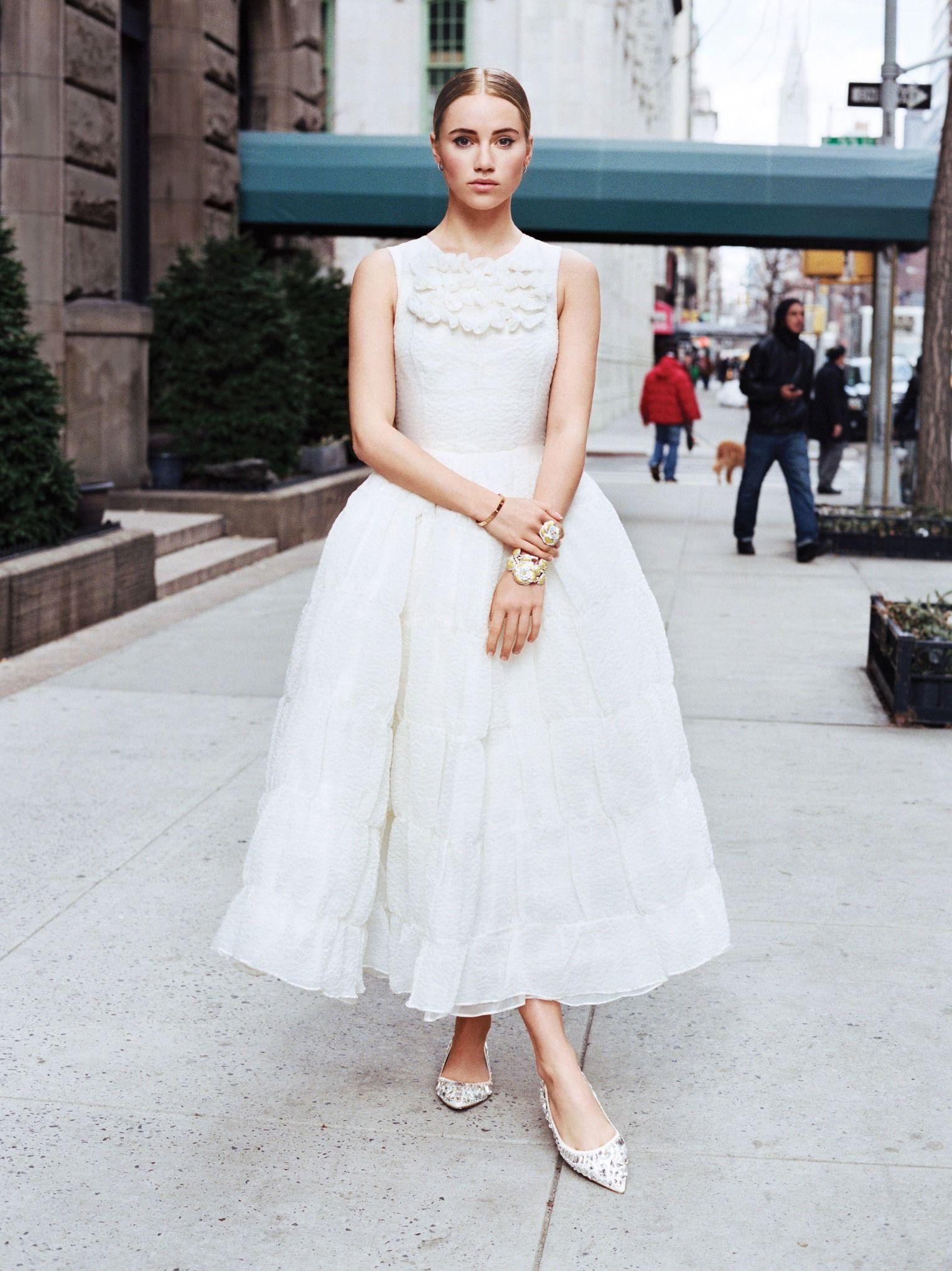 9 Super Chic Flats For Summer Weddings And Beyond Short Wedding Dress Tea Length Wedding Dress Bridal Dresses