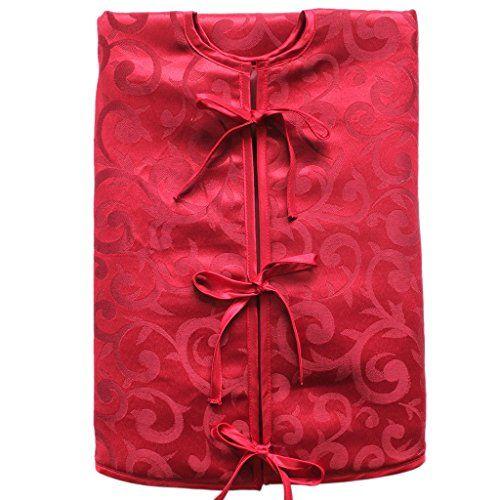 SORRENTO 90cm Jacquard Christmas Tree Skirt Red Mini Tree Skirt