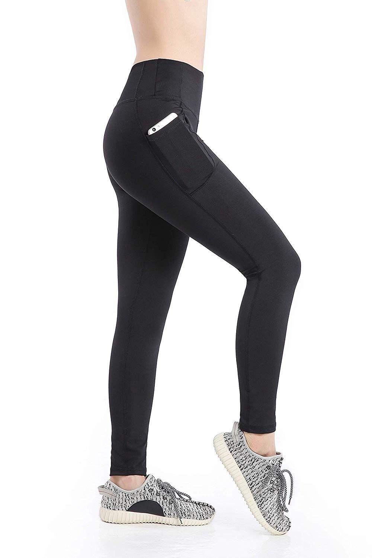 Women's Workout Leggings Exercise Workout Pants Yoga Leggings Running Tights - Black - CQ18M85EI5Y -...