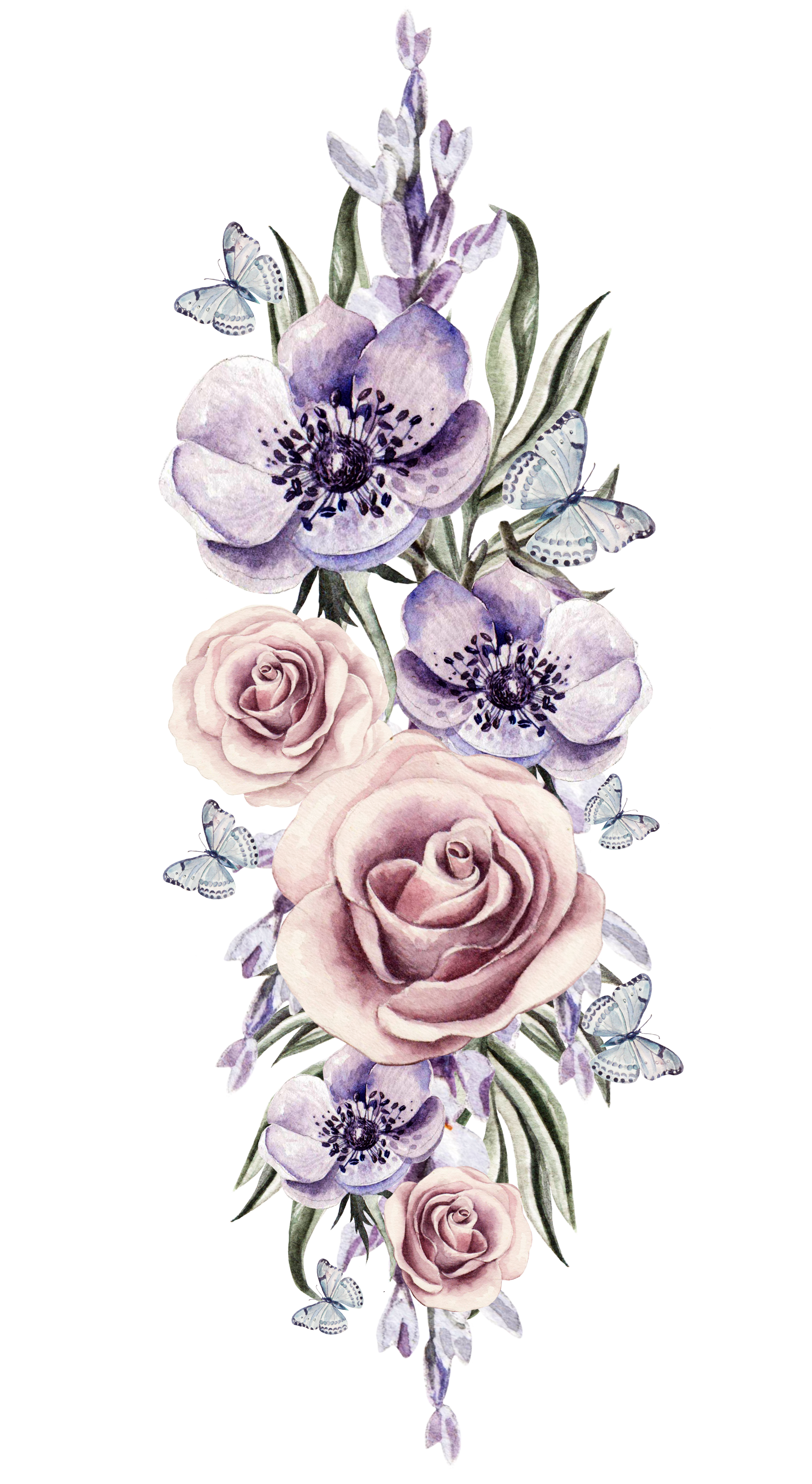Watercolor Flowers Png, Vector, PSD, And Clipart With