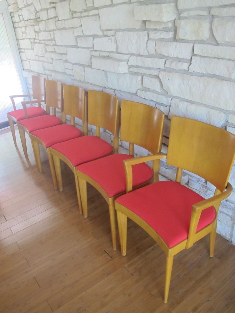 6 Vintage Heywood Wakefield Chairs   $90
