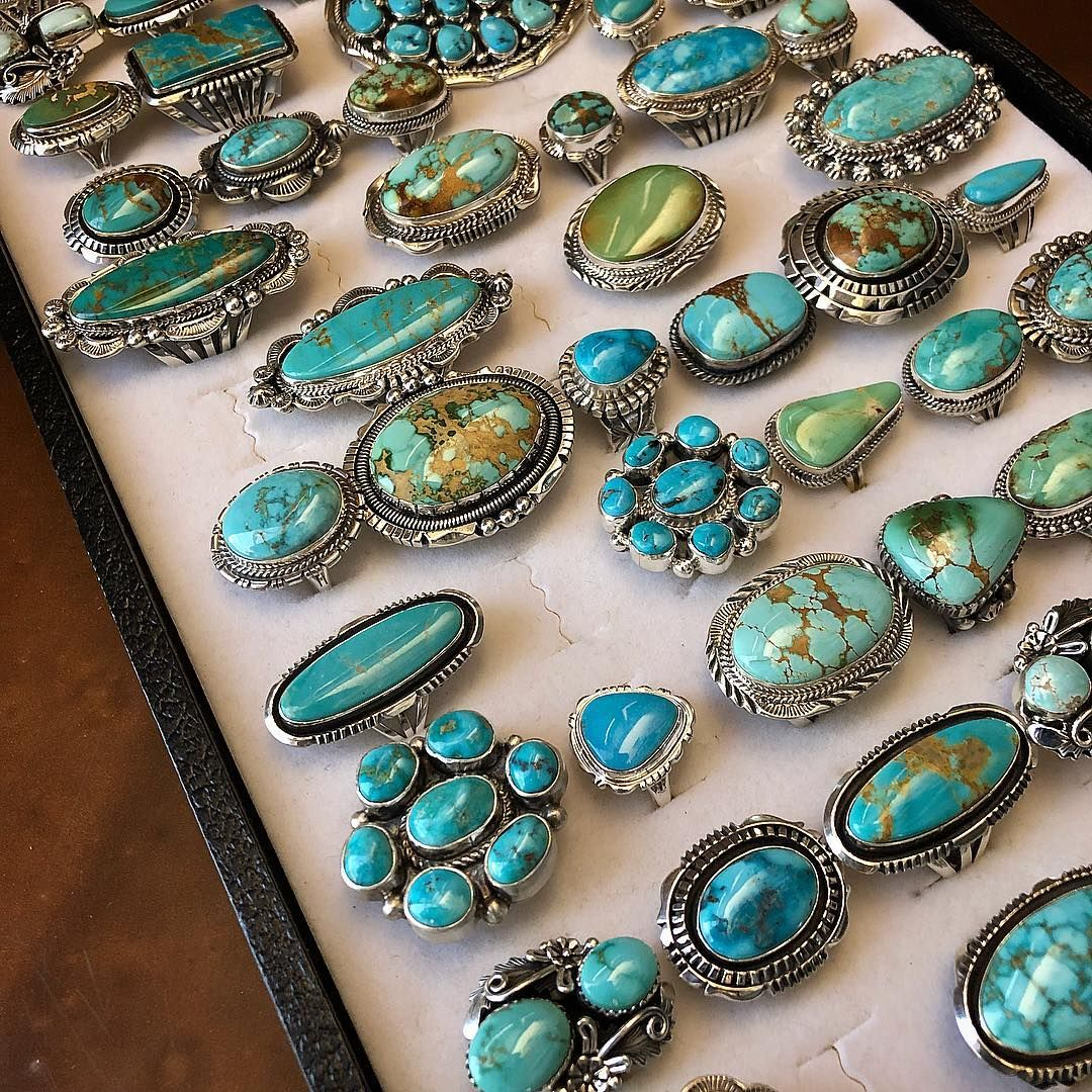 One Can Never Have Too Many Turquoise Rings Said No Girl Ever Go Treat Turquoise Jewelry Native American Turquoise Jewelry Rings Silver Turquoise Jewelry