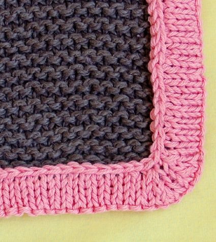 Tutorial Bulky Baby Blankets. It shows how to make a knitted border ...