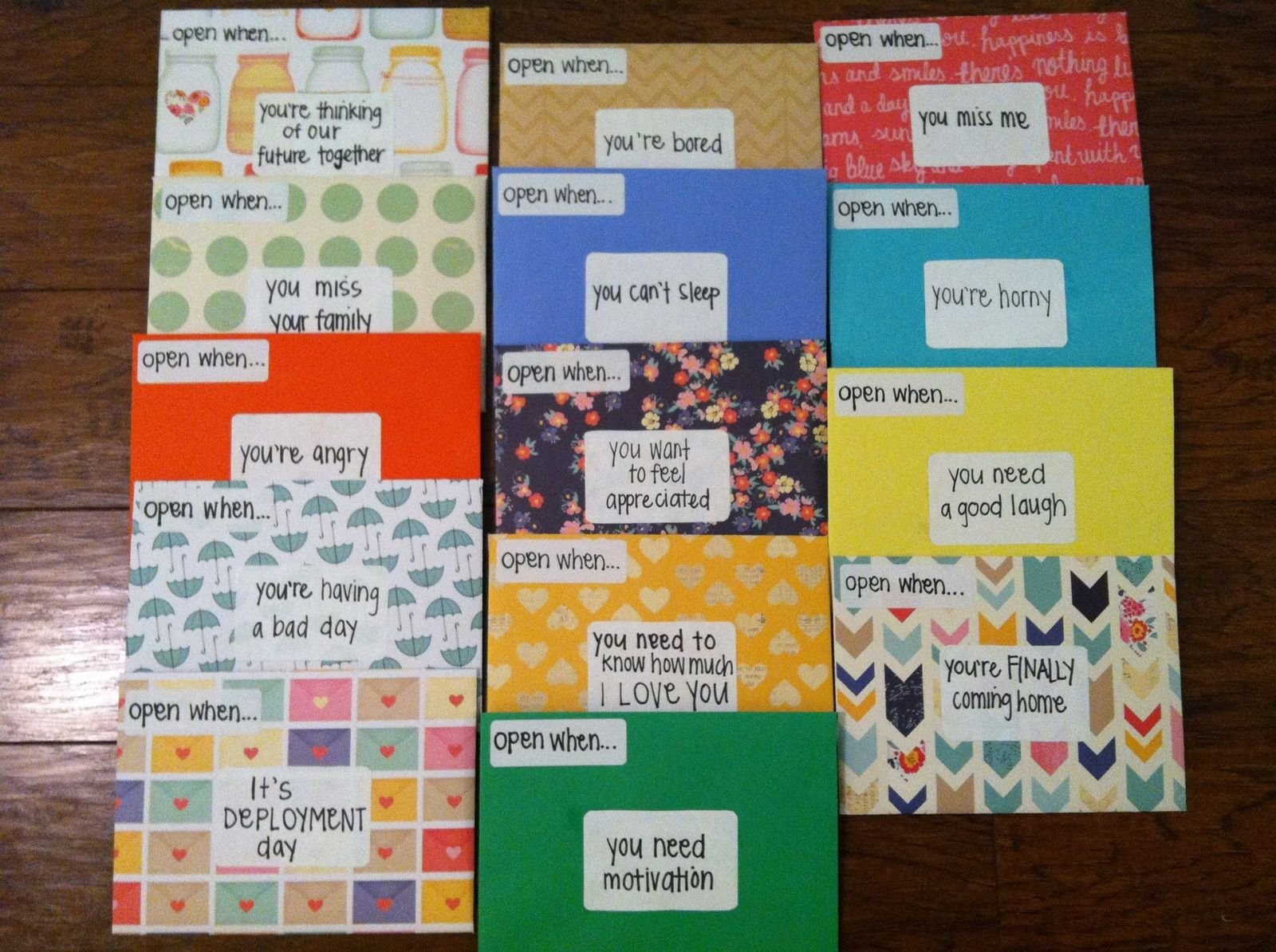 Open when letters i made for my boyfriend to take with him when open when letters i made for my boyfriend to take with him when he negle Choice Image