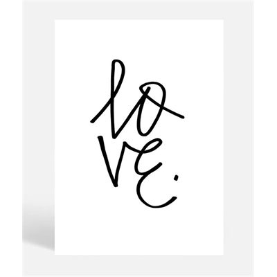 The Love Graffiti Print By Blacklist Is A Simple Typographic Art P