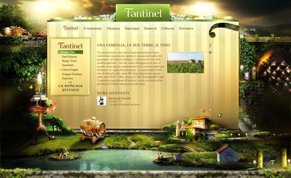 Fantinel - winery company by Александр Дамье, via Behance