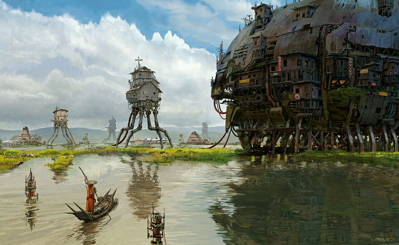 -Postcards from Asia: The Floodplain- https://www.artstation.com/p/mKoOe Pat Presley -- Concept Designer @ 20th Century Fox-- -- Share via Artstation Android App, Artstation © 2017