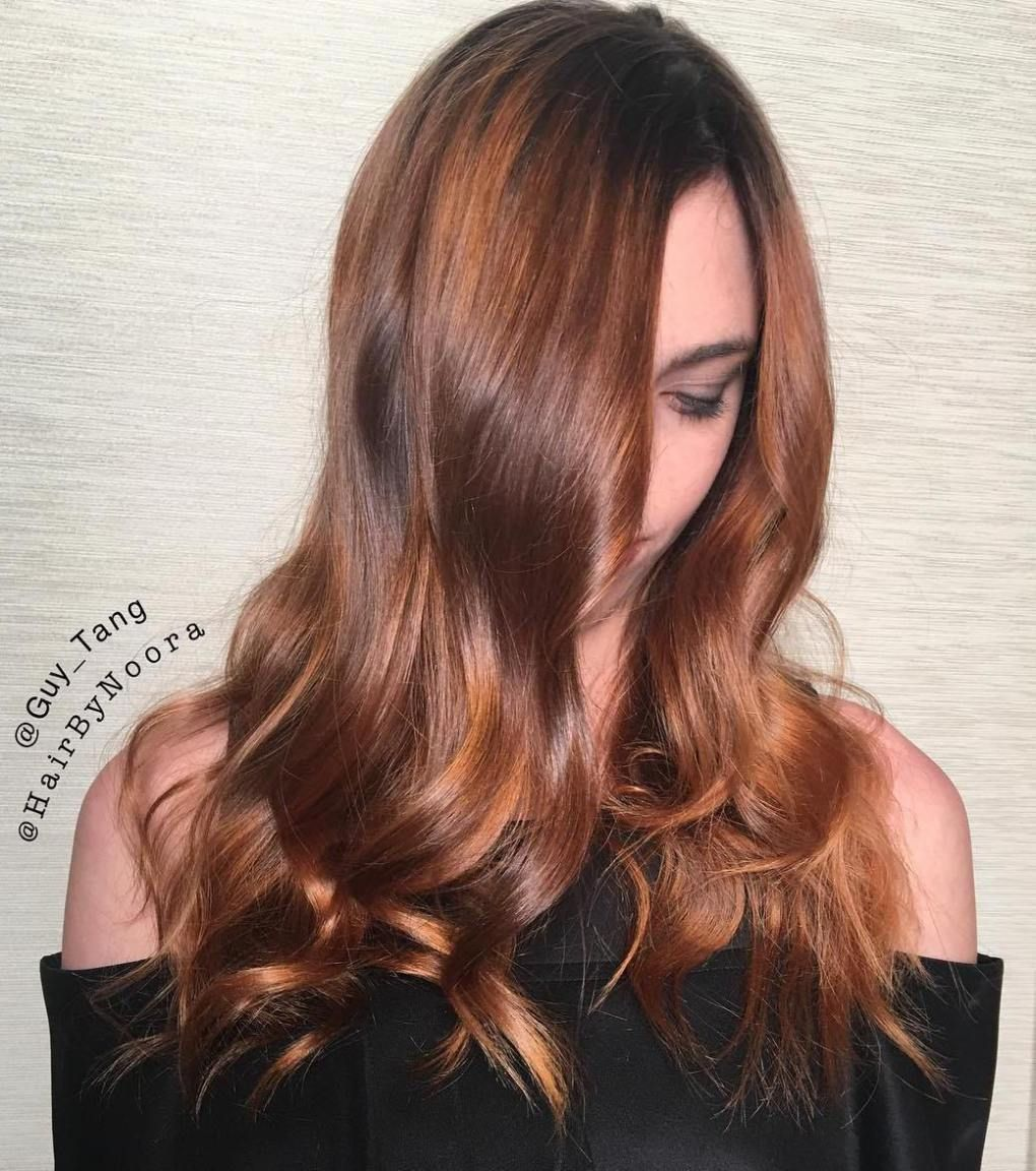 Brown Hair With Golden Blonde Highlights | Copper hair ...