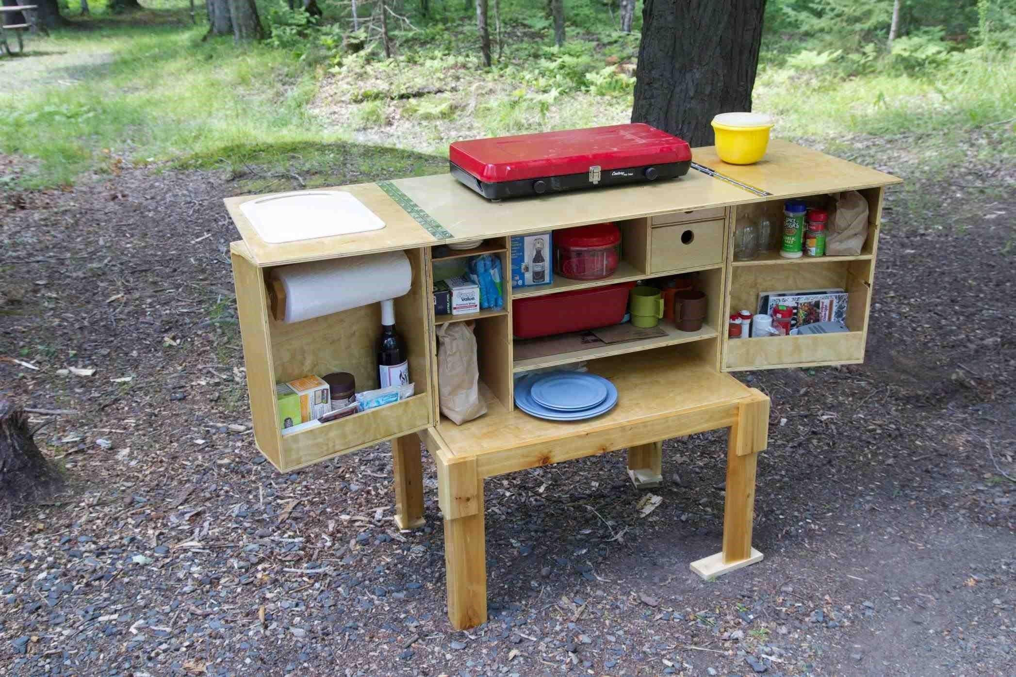 diy camping kitchen box  camping  Chuck box Camp
