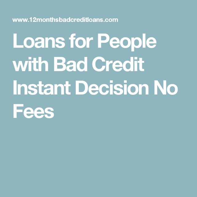 Loans For People With Bad Credit Instant Decision No Fees Direct Payday Lenders Payday Bad Credit