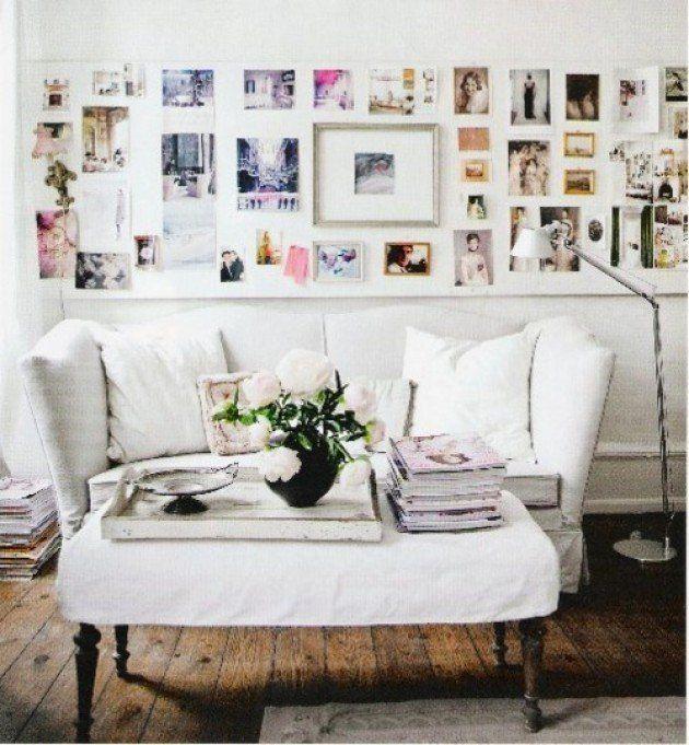Schöne Beispiele dafür, wie Sie Ihre Fotos im Zimmer aufhängen - wanddeko wohnzimmer landhausstil