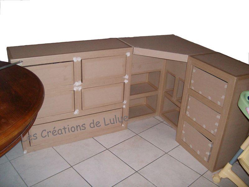 Meuble 3 En 1 Les Creations De Lulue Mobilier En Carton Design En Carton Fauteuil En Carton