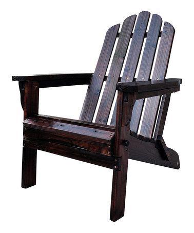 This Burnt Brown Marina Adirondack Folding Chair Is Perfect