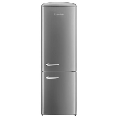 Chambers Chambers Retro Fridges 12 Cu Ft Bottom Freezer Refrigerator Silver Energy Star At Lowes Com In 2020 Bottom Freezer Refrigerator Bottom Freezer Retro Fridge