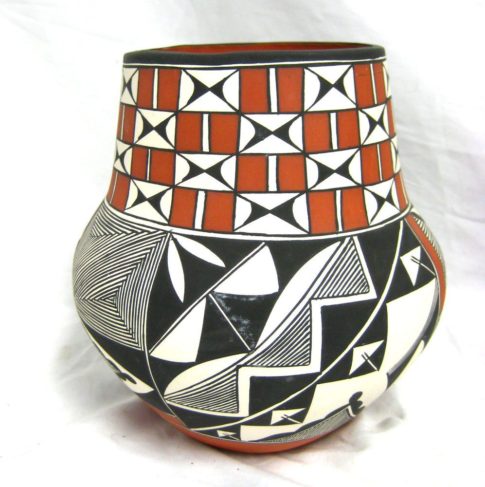 Acoma Pueblo Pottery by Franklin Peters of Huwaka Acoma New Mexico NM Signed