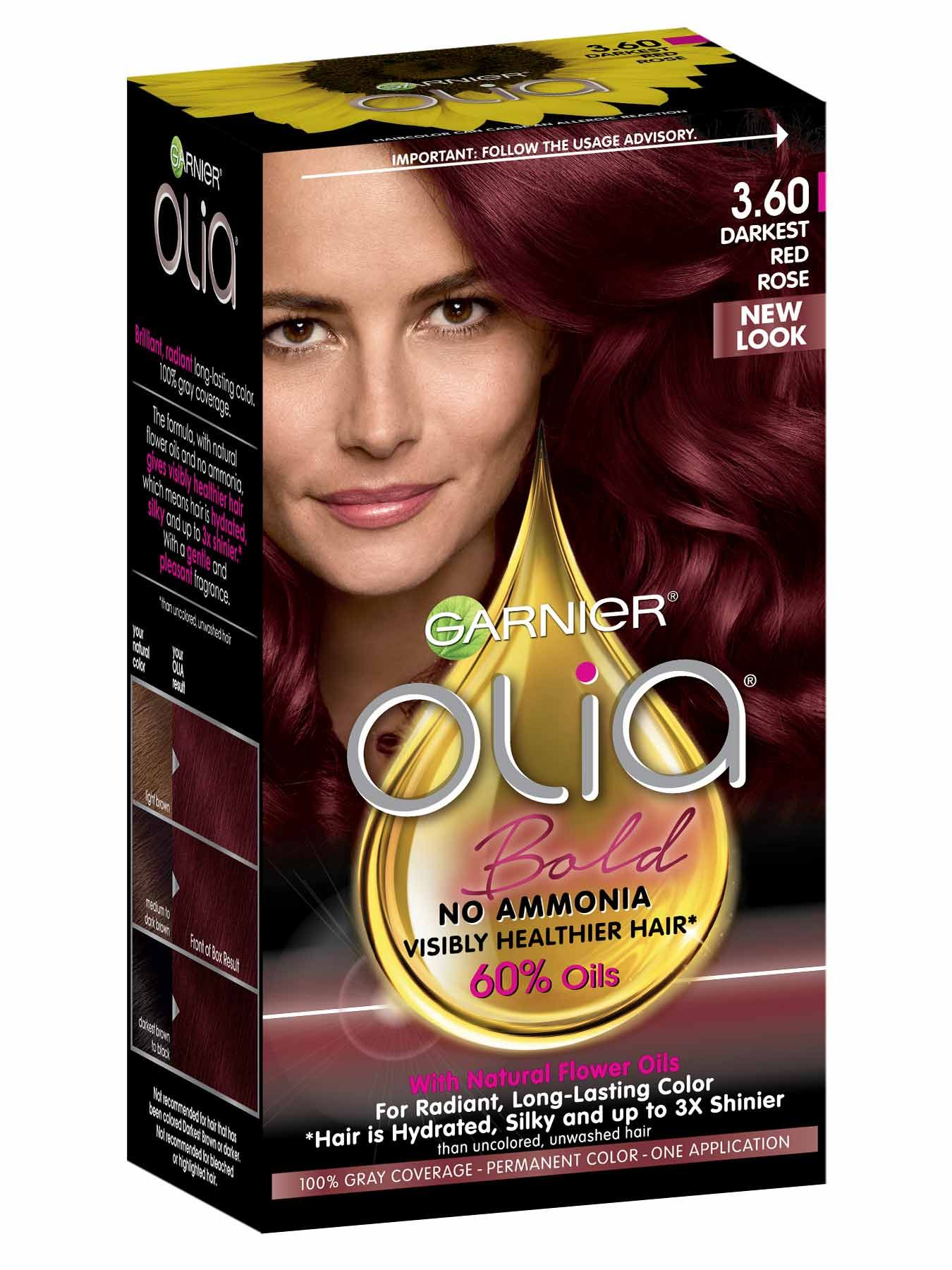 Olia Darkest Red Rose Hair Color Ammonia Free Hair Dye Garnier Permanent Hair Color How To Dye Hair At Home At Home Hair Color