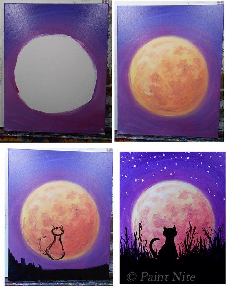 Evolution Of Cat In Moonlight