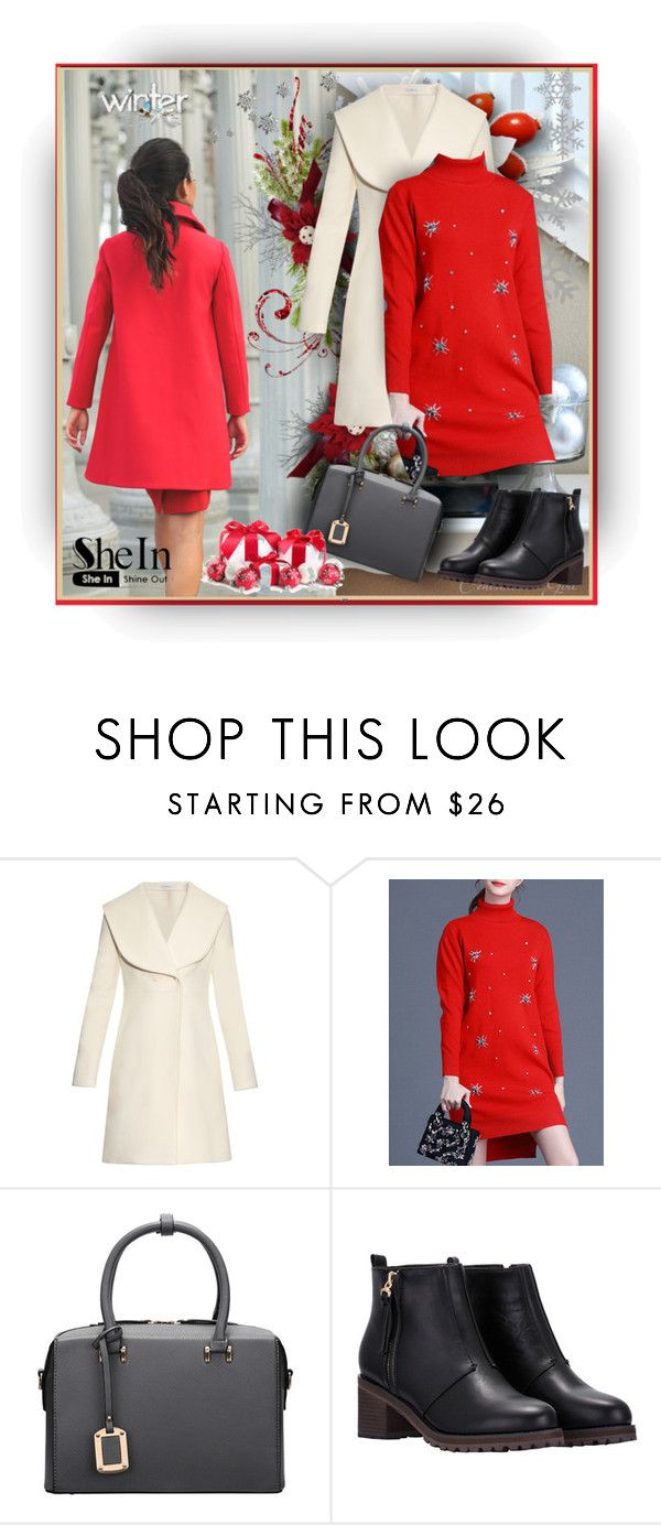 """""""SheIn.com - 6"""" by bebushkaj ❤ liked on Polyvore featuring J.W. Anderson, Winter, red, Sheinside and shein"""