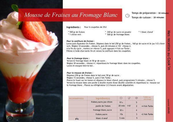 Mousse de fraise au fromage blanc à alléger avec de la