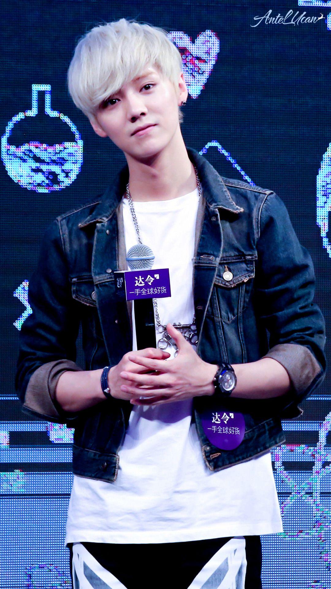 Luhan he looks like hes gonna cry