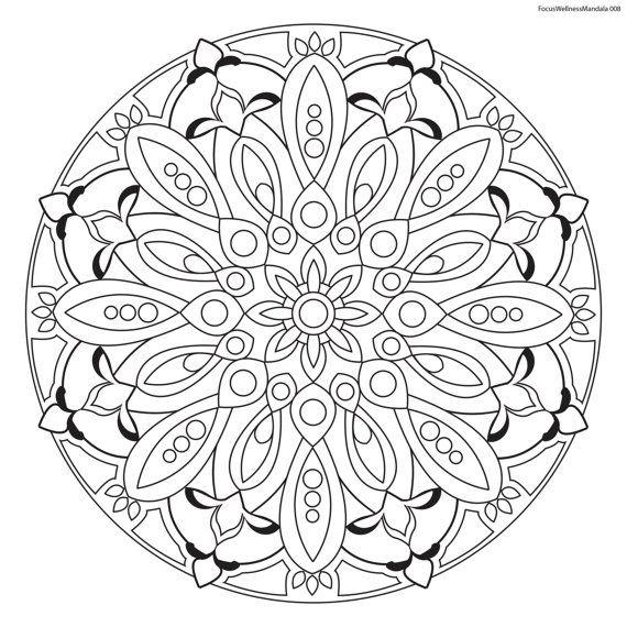 focus wellness mandala no  8 for coloring