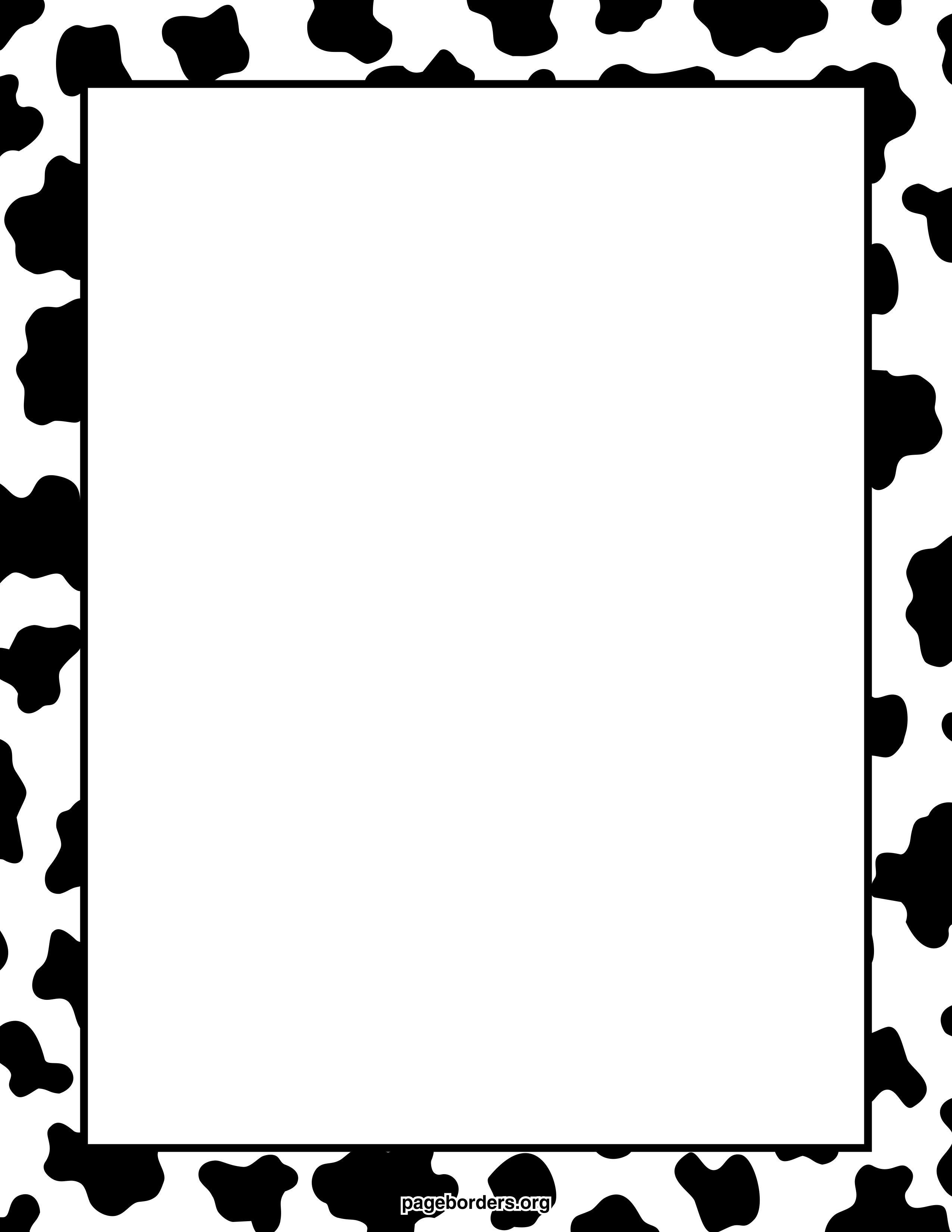 cow-print-border-watermarked.jpg 2,550×3,300 pixels | cute stuff ...