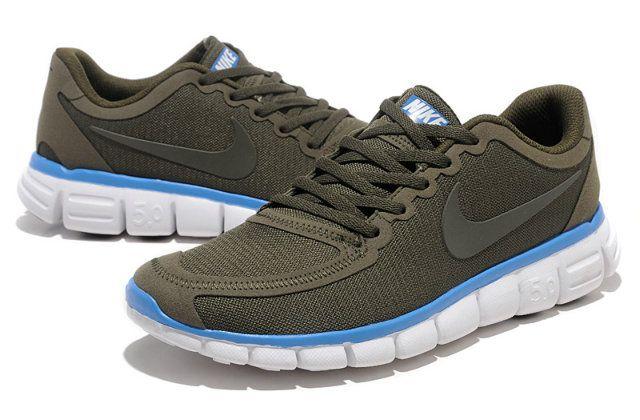 Herren Nike Free 5.0 V4 Schuhe dunkelgrau, weiB   Herren