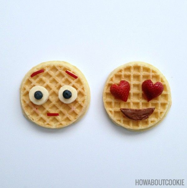 Waffle Emojis Breakfast For Kids Cute Breakfast Ideas Food