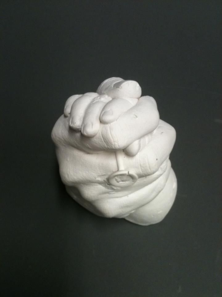 Mom And Baby Hands Cast In Plaster Need To Do This I Want To Do This With My Mom And Or Grandad Baby Cast Hand Sculpture Hand Molding