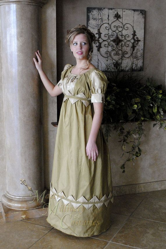 3e85971fb6 CUSTOM Diamond Evening Formal Regency Jane Austen Ball Gown Dress ...