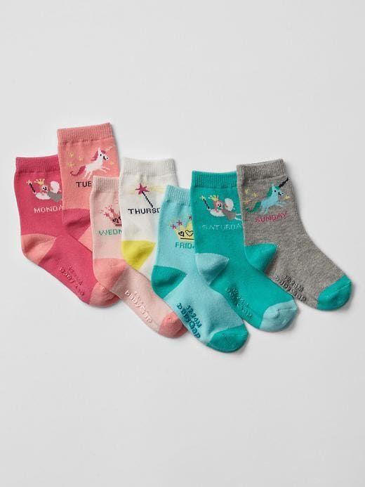 Days Of The Week Socks Gap Baby Fairy Tale Days Of The Week Socks 7 Pack Multi Kids