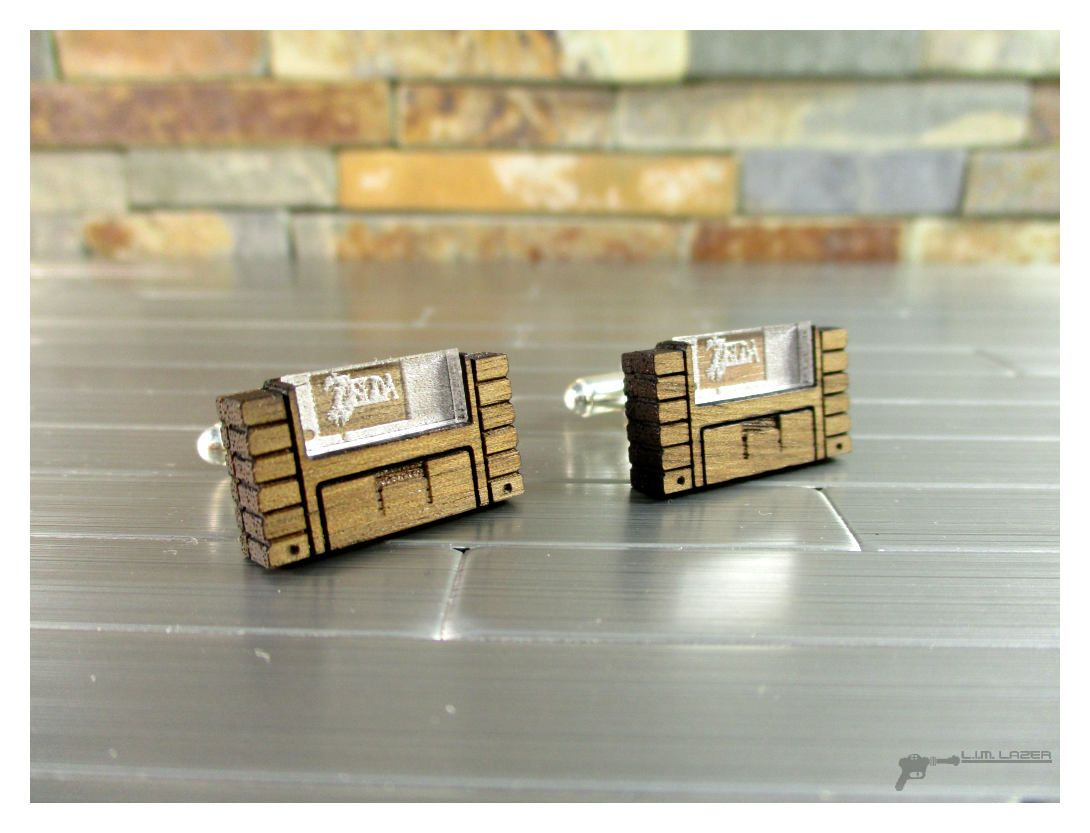 Legend of zelda inspired super nintendo cartridge cufflinks in