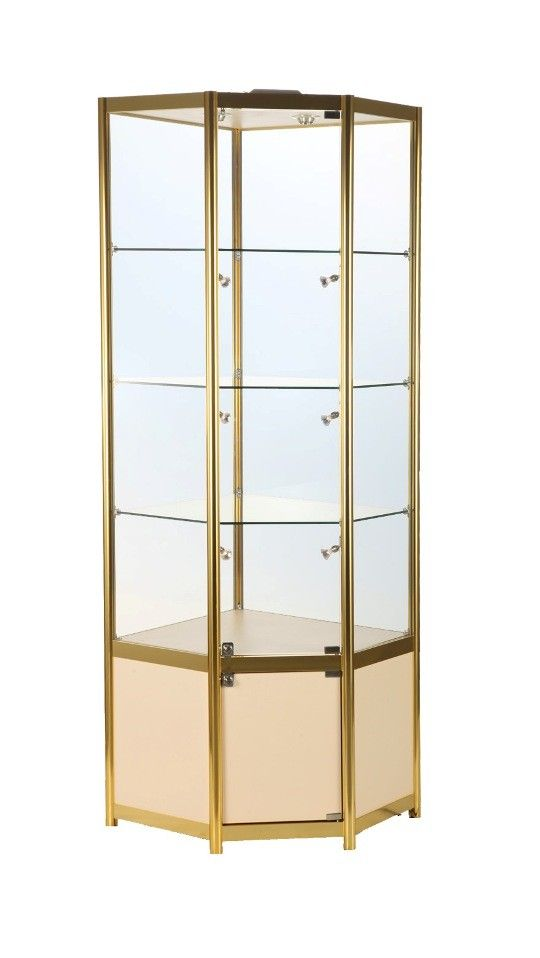 650mm Aluminium Corner Glass Storage Display Cabinet Glass Cabinets Display Display Cabinet Corner Display Cabinet