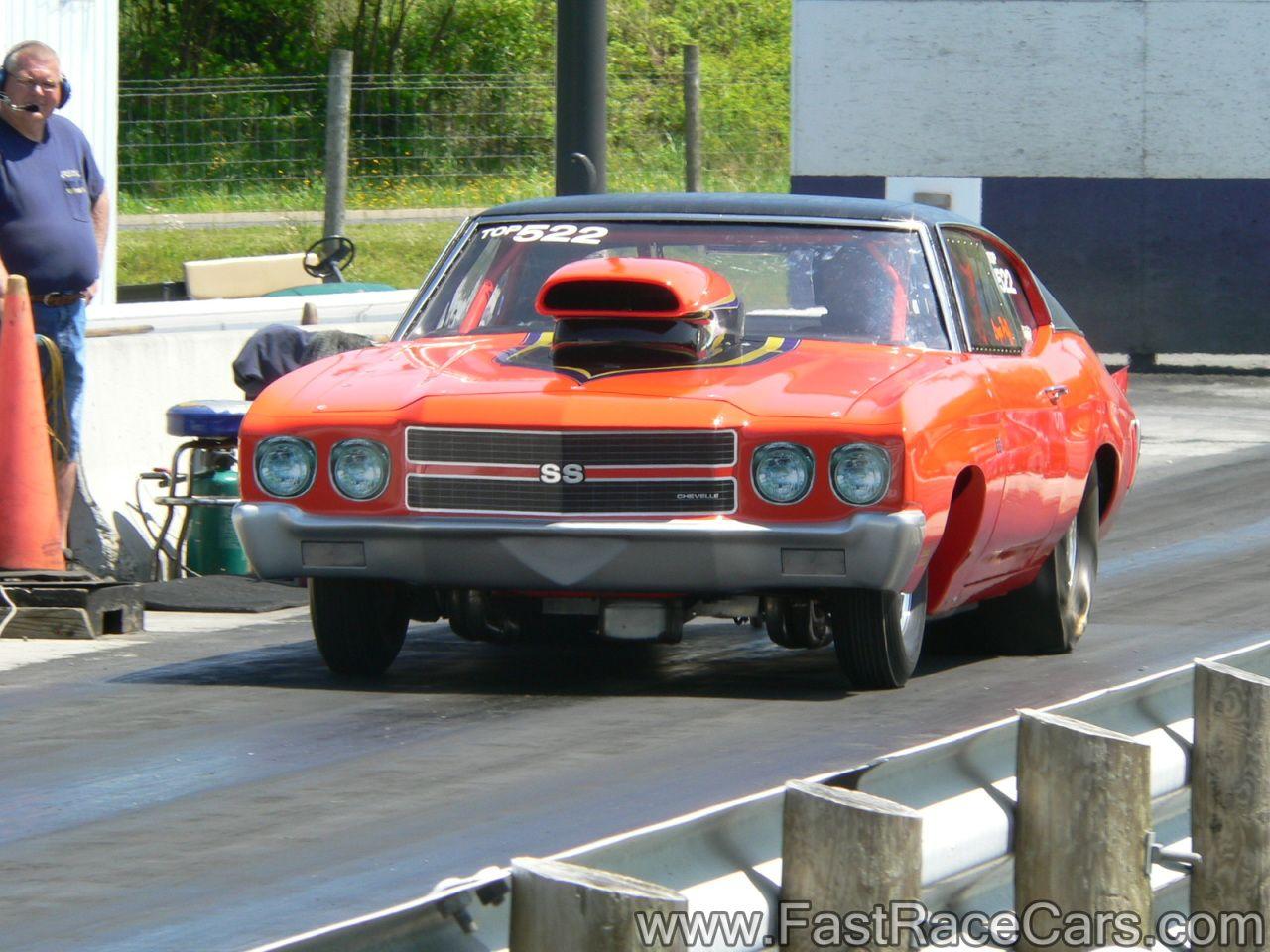 Orange Chevelle Drag Car with Black Vinyl Top | Drag Racing V ...