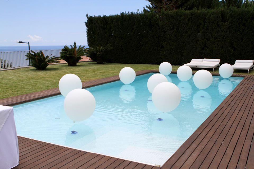 Decoração balões Piscina