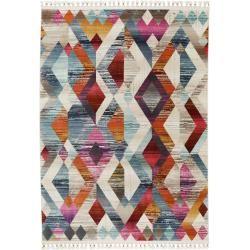 benuta Kurzflor Teppich Simsala Multicolor/Beige 200x280 cm - Moderner Bunter Teppich für Wohnzimmer
