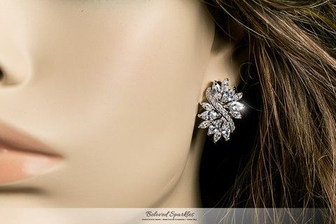 Shani Marquise Cer Statement Stud Earrings 6 Carat Diamond Studs Jewelry