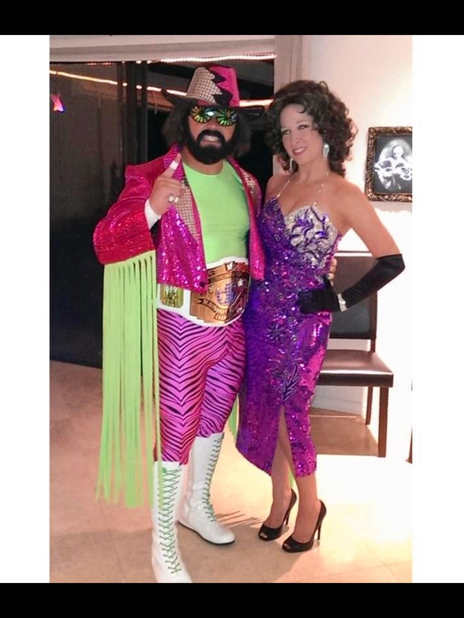 Macho Man Randy Savage and Elizabeth Costume.   Halloween Fun ...