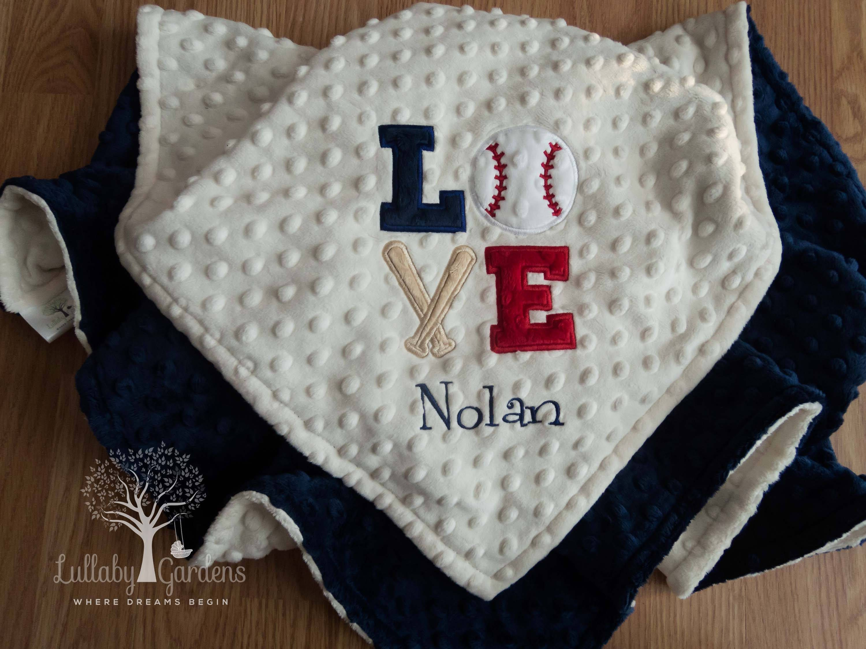 Baseball personalized minky baby blanket personalized minky baby baseball personalized minky baby blanket personalized minky baby blanket personalized baby gifts baby negle Images