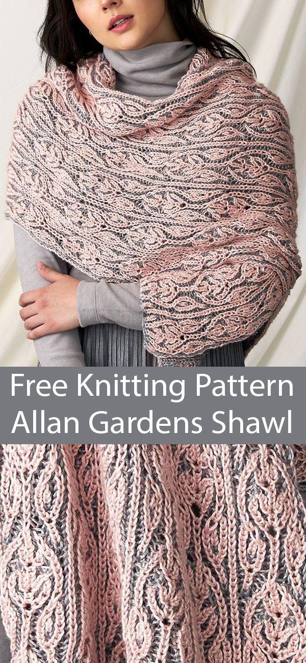 Free Knitting Pattern For Allan Gardens Brioche Shawl Brioche Knitting Patterns Shawl Knitting Patterns Knitting Patterns Free Scarf