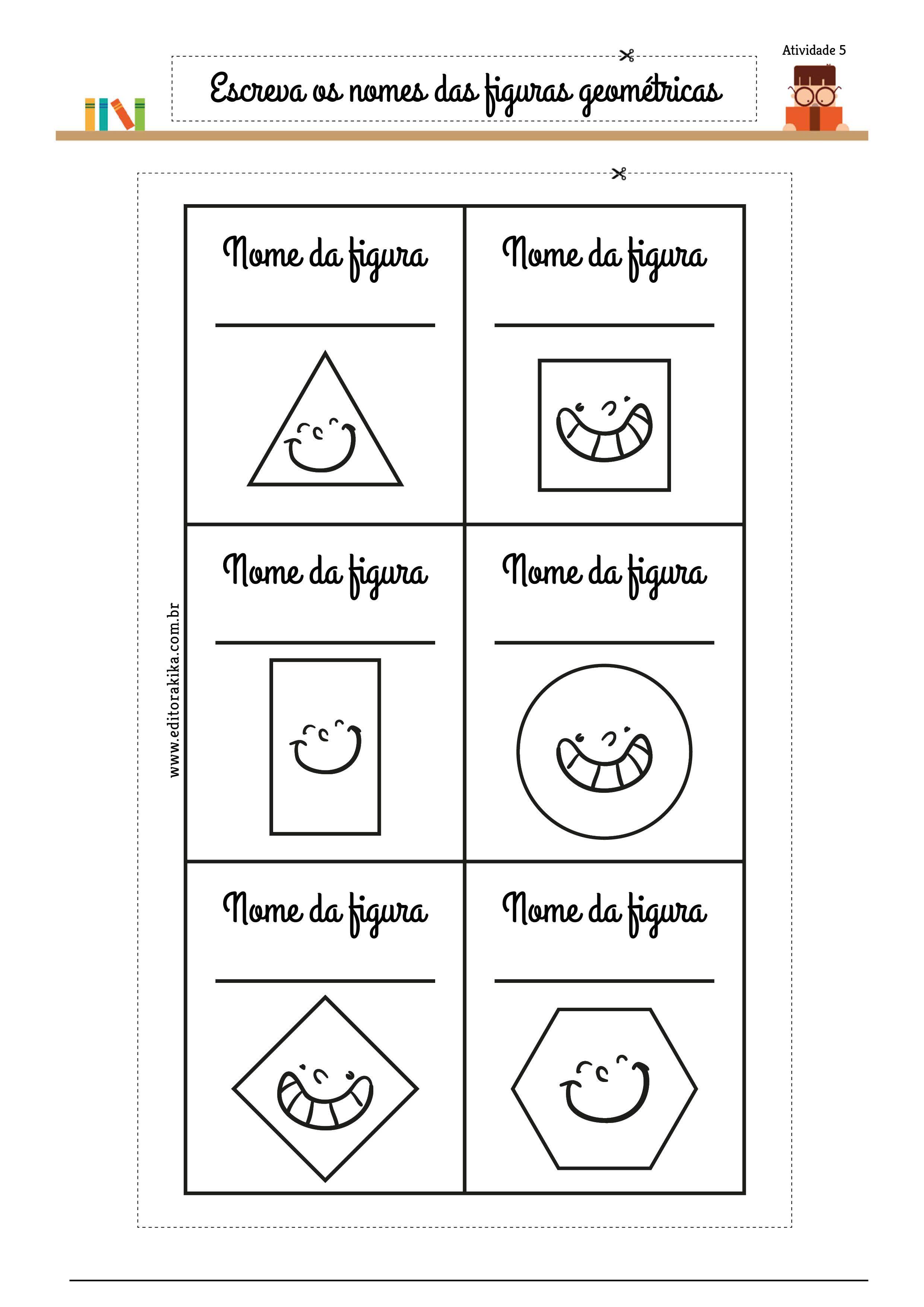 Identificando E Nomeando Figuras Planas Circulo Quadrado