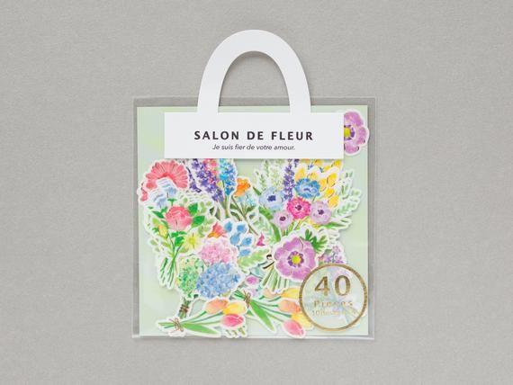 Photo of Flower bouquet stickers -SALON DE FLEUR- / colorful flower bouquet by mind wave