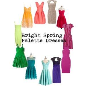 Bright spring palette dresses